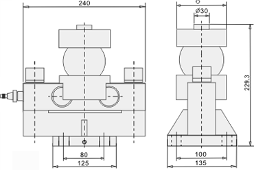 Double Ended Shear Beam Load Cell - Dimentions