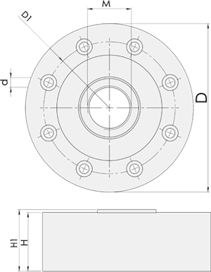 Pancake Load Cell - Dimentions