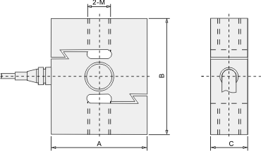 Tension Load Cell - Dimentions