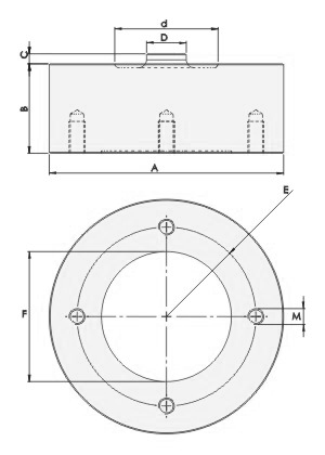 Compression Load Cell - Dimentions