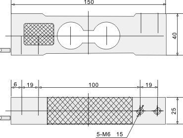 Two Hole Load Cell - dimensions