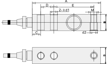 Single Shear Beam Load Cell - Dimentions